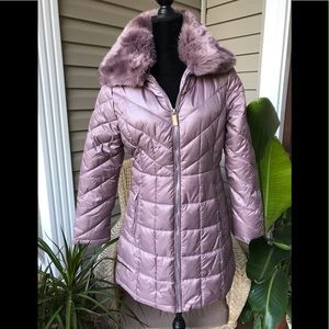Kenneth Cole Pink/Lavender Puffer Jacket; SZ S/P.